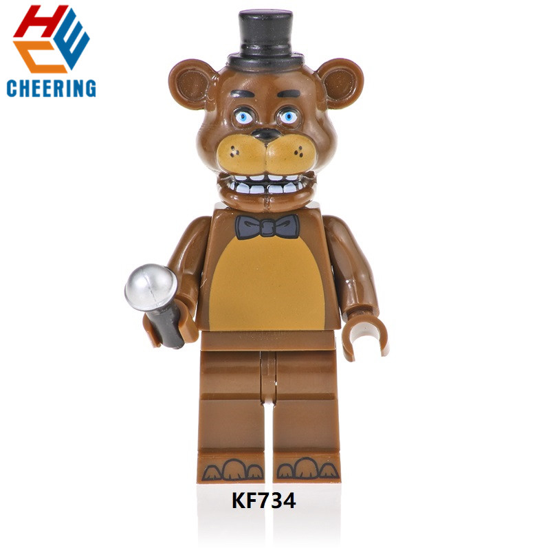 Single Sale Building Blocks Famous Movie Five Nights At Freddy Chica Bunny Foxy Spintraft Brick Children Toys Kids Gift KF734