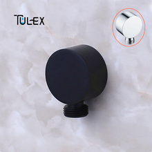 TULEX Shower Head Connector Shower Accessories Round Bathroom B Wall Mounted Connector Brass Body Bracket for Bathroom