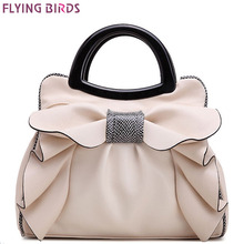 FLYING BIRDS! 2016 women handbag designer women leather handbags retro wedding tote bolsas brands flower embossed bag LM3162fb