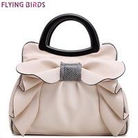 FLYING BIRDS 2016 Women Handbag Designer Women Leather Handbags Retro Wedding Tote Bolsas Brands Flower Embossed