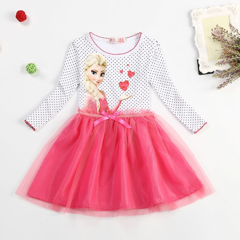 new summer snow dress disfraz anna elsa elza princess dress infantil fever la robe reine des. Black Bedroom Furniture Sets. Home Design Ideas