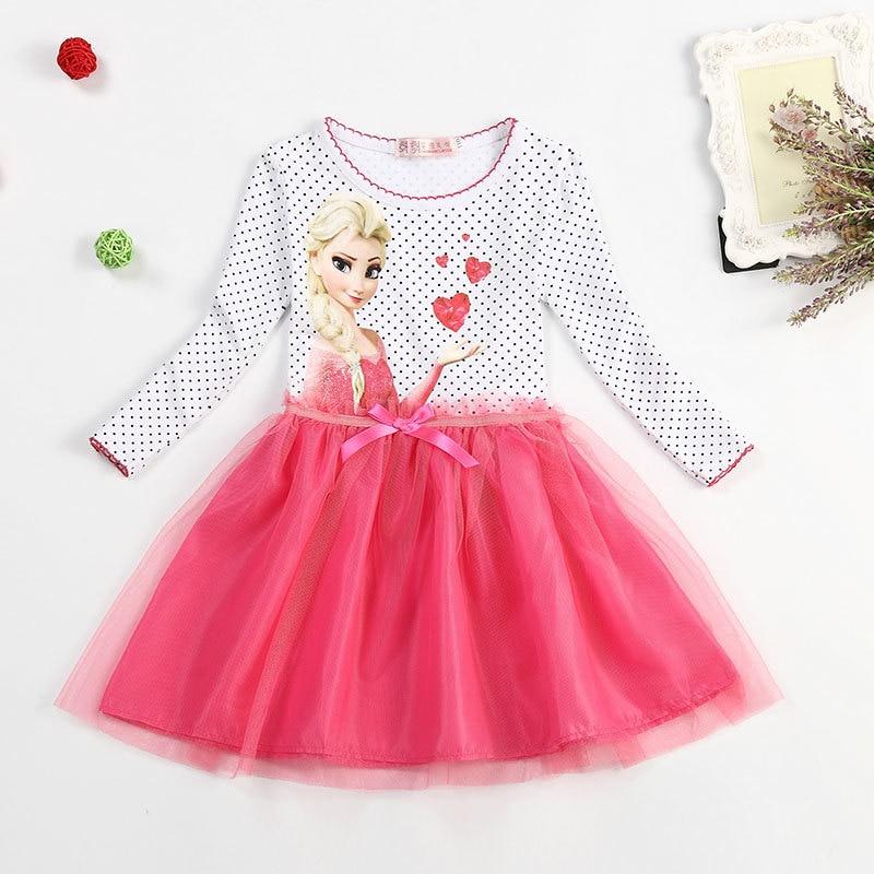 new summer snow dress disfraz anna elsa elza princess dress infantil fever la robe reine des