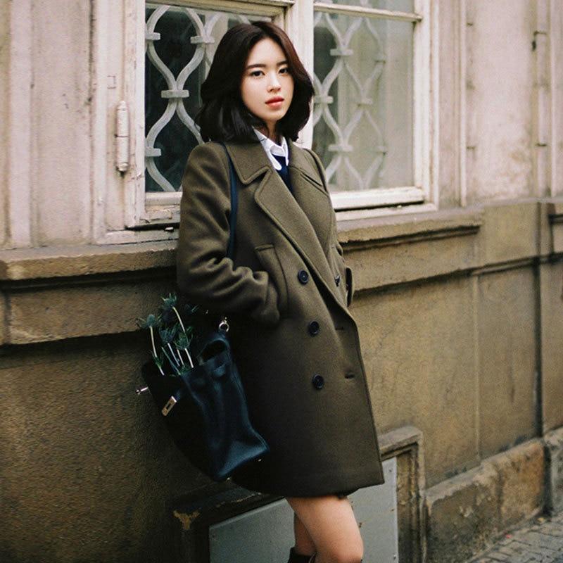 Vintageฤดูหนาวสุภาพสตรีstreetwearสี