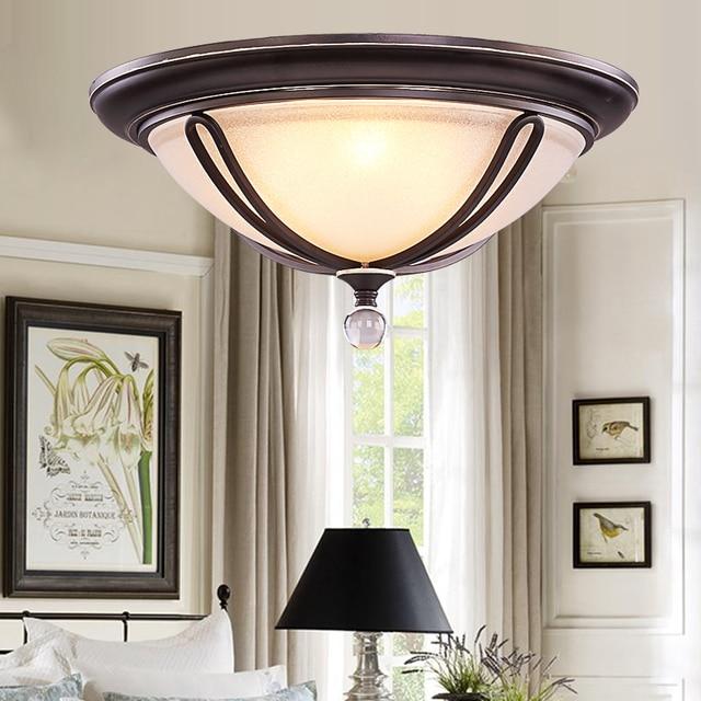 Style Europeen E27 Plafond Lampe Allee Entree Lampe Couloir Porte
