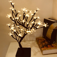 24/36/48 LED USB Cherry Plum Blossom Tree Light Table Lamps Night light for Home Bedroom Wedding Party Bar Christmas Decoration