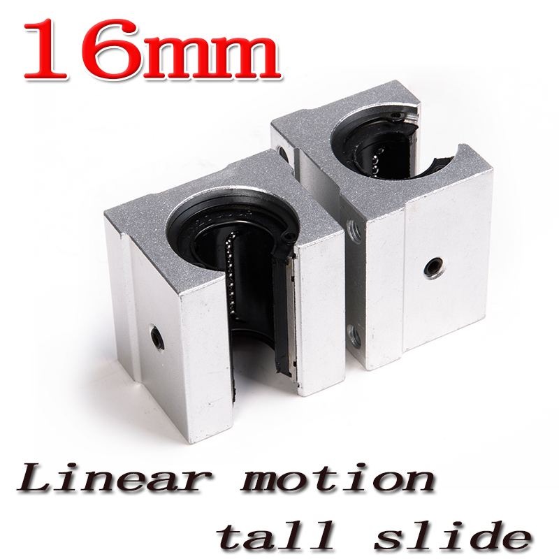 2pcs/lot SBR16 SBR16UU 16mm Linear Ball Bearing Block CNC Router Free Shipping russia tax free 3d woodworking cnc router cnc 6040 4 axis cnc milling machine with spindle 500w