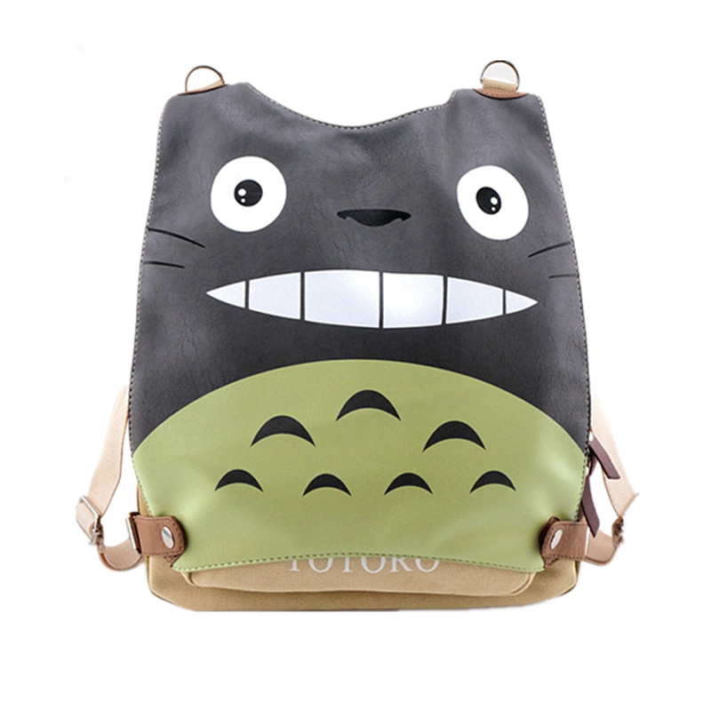 High Quality 2017 New My Neighbor Totoro Kawaii Cat Emoji Printing Women PU Leather Backpack Multifunctional