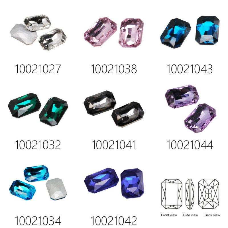 18.5x27mm Rectangular Cabochon Cushion Cut Fancy Crystal Stone,4627,Cushion Cut Gem,Crystal Faceted Stone,sold 10pcs/pkg-100210