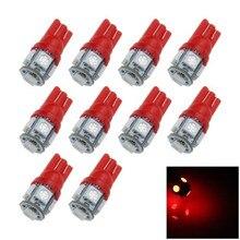 цена на LaLeyenda 50pcs T10 LED W5W 5050 5SMD Car LED Wedge Light 168 194 192 DC 12V/24V License Plate Bulb Marker Reading Dome Lamp