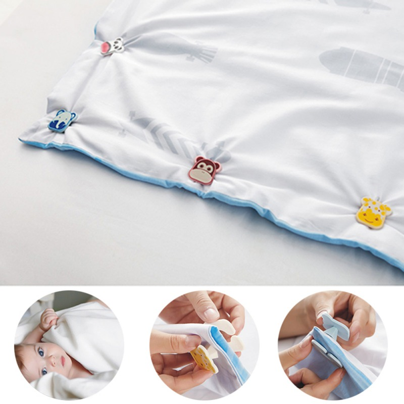 Baby Bedding Fixed Buckle Animal Pattern Clip Infant Quilt Holder Quilts Anti-Slip Blanket