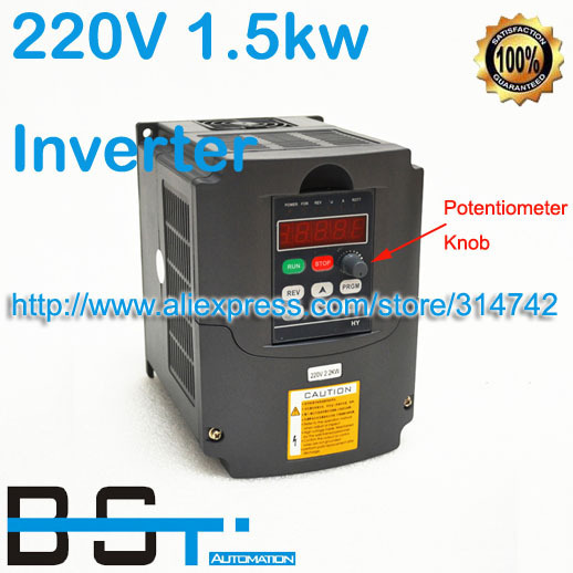 NEW AC 220V 1.5kw VFD Variable Frequency Drive Inverter For 1.5kw Spindle Motor with Potentiometer Knob