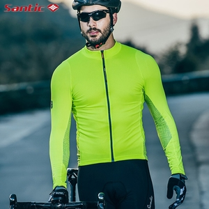 Image 5 - Santic Autumn Winter Pro Cycling Jerseys  MTB Downhill Breathable Long Sleeve Top Jersey Mountain Bike Clothing Maillot Ciclismo