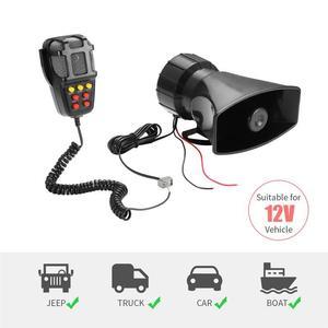 2018 Tone Sound Car Emergency Siren Car Siren Horn Mic PA Speaker System Emergency Amplifier Hooter 12V 100W(China)