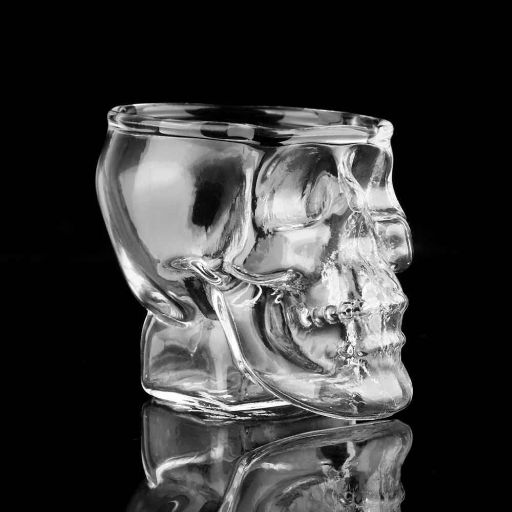 スカルヘッドショットガラスカップワインマグビールガラスマグクリスタルウイスキーウォッカメーカー茶コーヒーカップ 80 ミリリットルギフト水ボトル