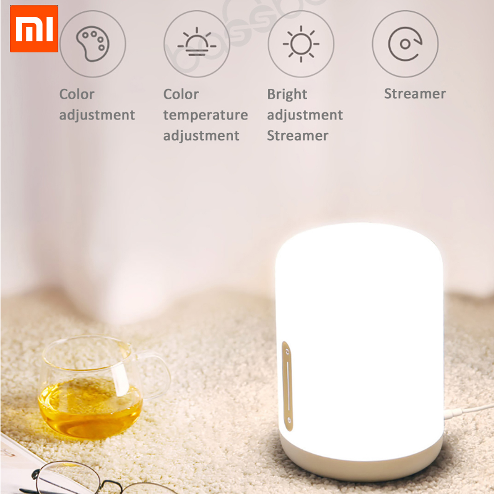 Xiaomi Mijia Bedside Lamp 2 Smart Table LED Night Bluetooth WiFi Touch Panel Control mihome APP
