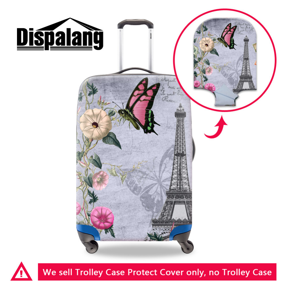 Eiffel Tower Travel Luggage Protective Cover For 18-30Trolley Case Spandex Elastic Stretch Waterproof Protect Suitcase Cover