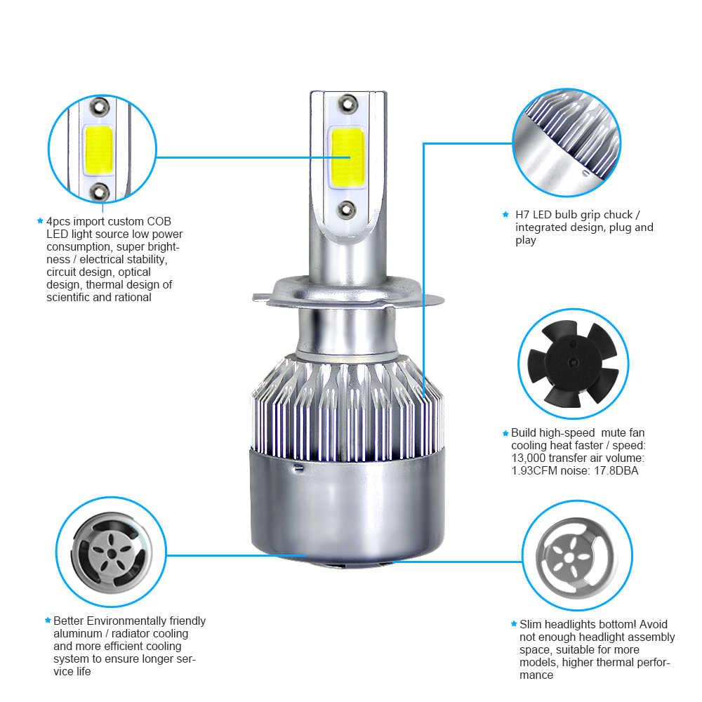 Ampoules Auto H7 880 K 9004 K | 9005, H4 H11, 9006 9007, 72W 8000LM, phare de voiture, nouvelle collection, H1 H3 H13 6000