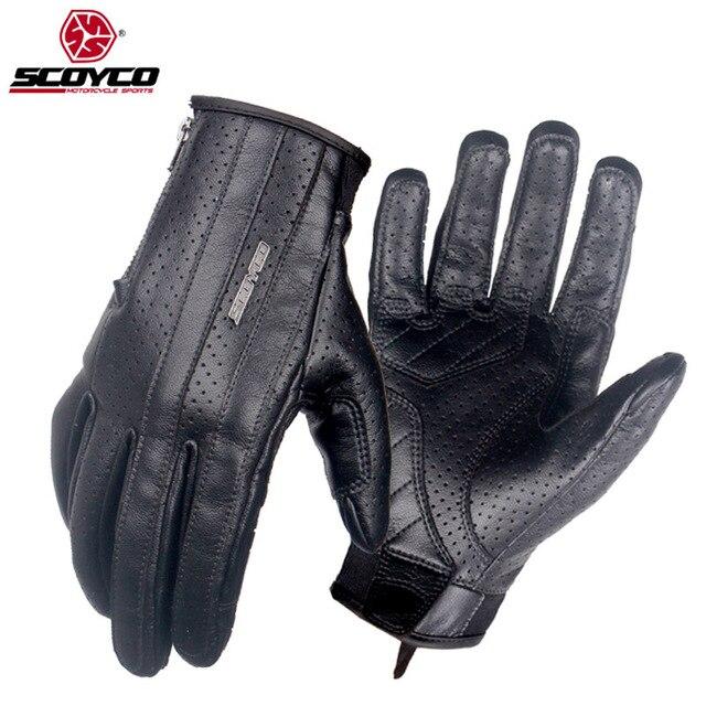 bcc753c3 € 25.05 50% de DESCUENTO SCOYCO MC50 guantes de Moto de Motocross en  Locomotora Retro verano transpirable pantalla táctil Moto guantes Luvas  Moto ...
