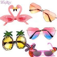Strand Hawaii Party Rosa Flamingo Party Tropical Dekorationen Lustige Gläser Ananas Sonnenbrille Sommer Luau Hawaiian Party Event