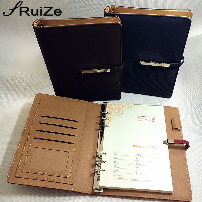 RuiZe 2019 pu кожа спирала лаптоп A5 хлабав лист тетрадка планиране организатор бележка книга за офис бизнес подарък подарък