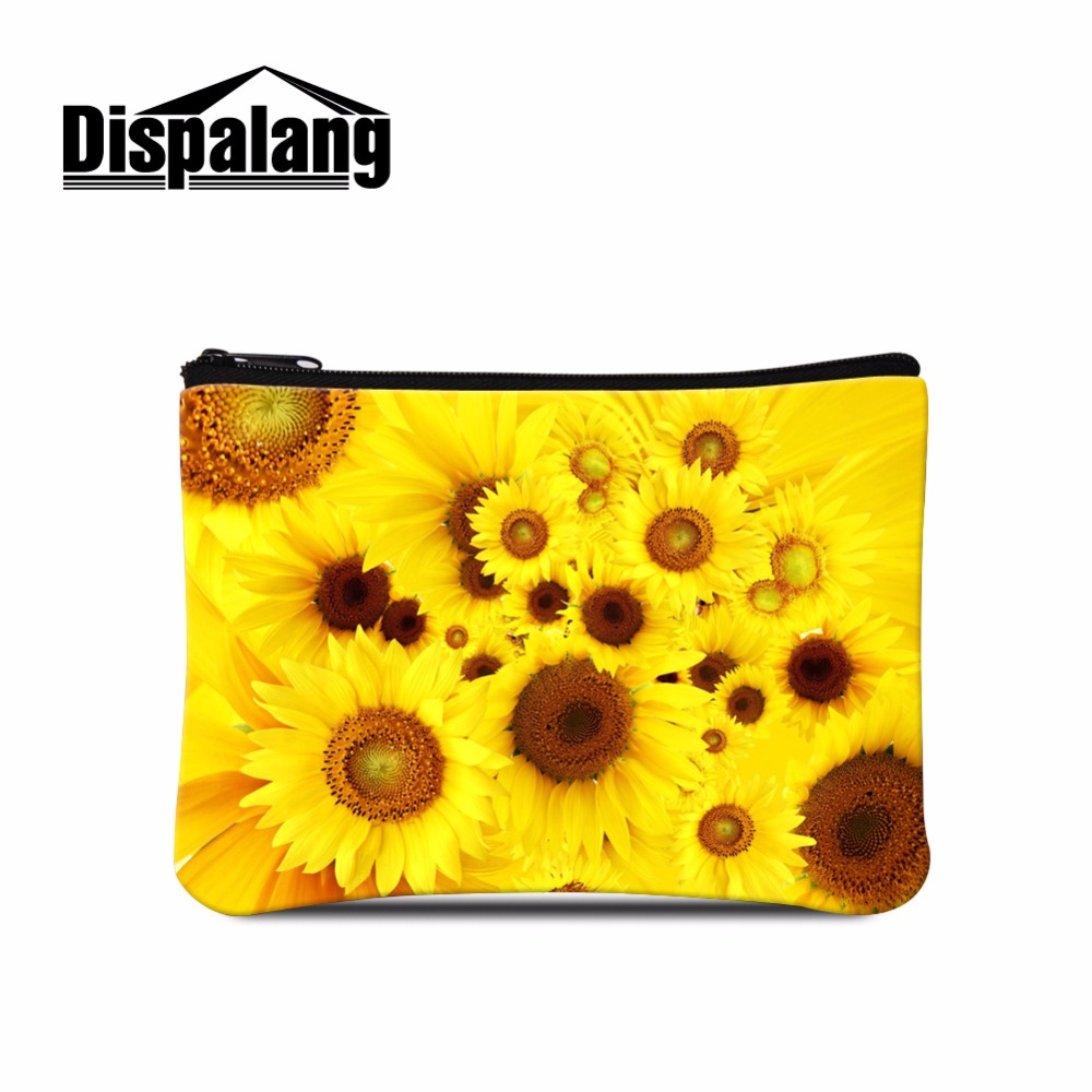 Cosmetic & Beauty Pouch Bag Case Coin Purse Wallet Bags for Girls Floral Coin Case Sunflower Women Coin Bags Money Bag for Lady bonfanti beauty case