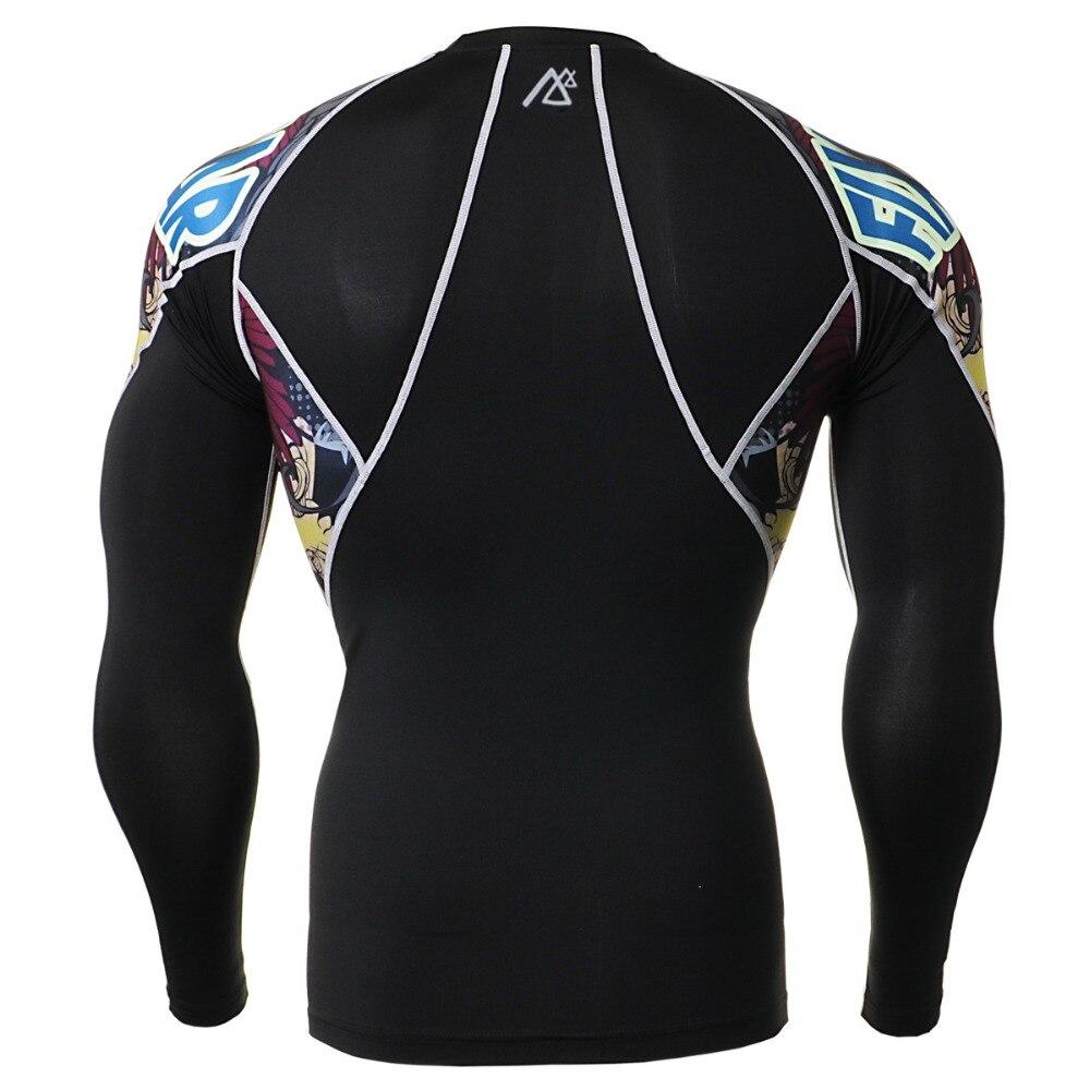Esportes dos homens Correndo Compressão Conjunto Camisa   Calças Skin  Apertado Mangas Compridas Roupas Ginásio de Treinamento de Fitness Secagem  rápida MMA ... f221eb68bfb13