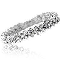 MSF Brand SSL189 Incredible Shiny New Arrivals Romantic Austria Crystal 23k Platinum Plated Bracelets Jewelry