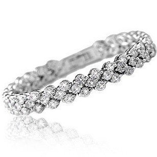 2016 new design shiny romantic cubic zircon 925 sterling silver ladies`bracelets women jewelry gift drop shipping