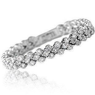 New design shiny romantic cubic zircon 925 sterling silver ladies`bracelets women jewelry gift drop shipping no fade cheap