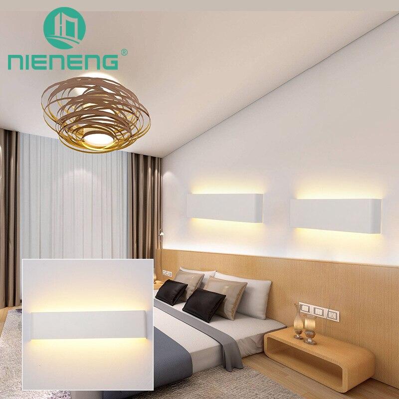 Nieneng современный минималистский LED лампа прикроватная лампа бра комнаты Ванная комната зеркало свет прямой творческий проход Освещение ...