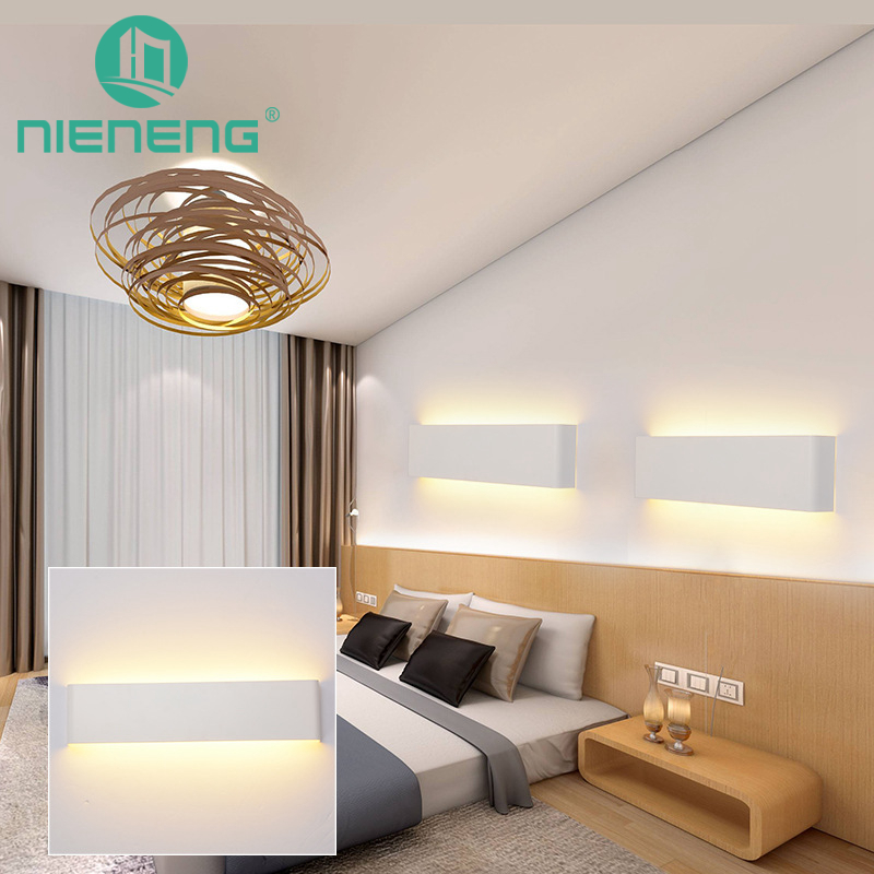 Nieneng Modern Minimalist LED Lamp Bedside Lamp Wall Lamp Room Bathroom Mirror Light Direct Creative Aisle Lighting ICD90101B modern bedside lamp wall light minimalist fabric shade wall sconces lighting fixture for balcony aisle hallway wall lamp wl214