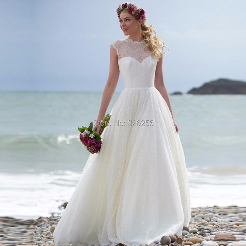 0d021f9a021 Free Shipping New Arrival Custom Made High Quality Lace Beach Model Lovely  Elegant 2017 Wedding Dress Bridal Gown ZH0402
