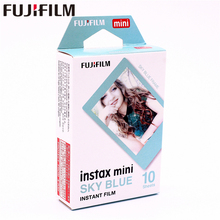 Original Fuji Fujifilm 10 sheets Instax Mini Sky Blue Instant Film photo paper for  mini 8 7s 25 50s 90 9 Camera