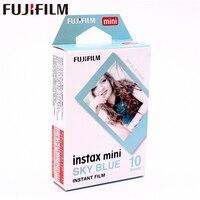 Originale Fuji Fujifilm 10 fogli Instax Mini Blue Sky Immediata Film foto carta per Mini Instax mini 8 7 s 25 50 s 90 9 Camera