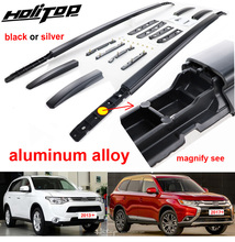 цена на Hottest roof rack/roof rail/bar for Mitsubishi Outlander 2013-2019,aluminum alloy fixing,by screws,free drill hole,real strong