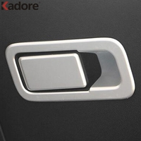 Car Covers ABS Matte Inner Door Handle Circle Chrome Sequins Cover Stickers For Kia Sportage 2016