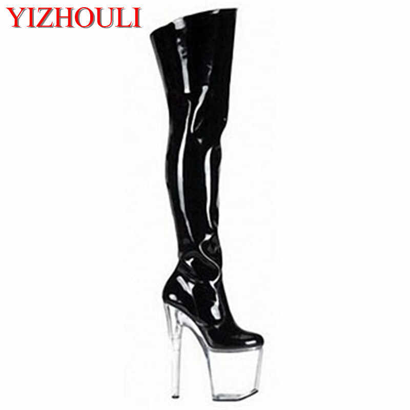 55da99cb1d0393 8 inches of sexy female gladiators knee-high boots, 20 centimeters high  heel boots