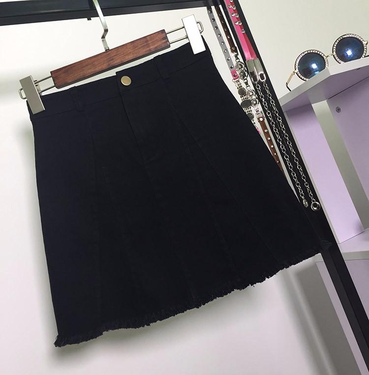 HTB1AXp8OVXXXXcgXXXXq6xXFXXXG - American Apparel button Denim Skirt JKP265
