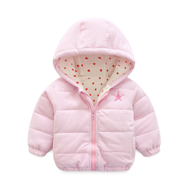 Baby Snow Wear Coat Thick Climbing Clothes Newborn Boys Girls Warm Jacket Winter Christmas Striped Hooded Outwear