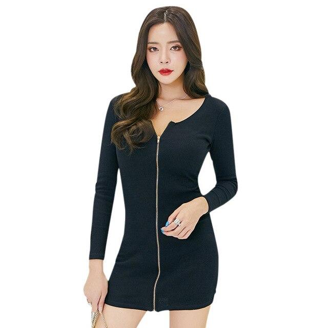 Vestido negro formal para mujer