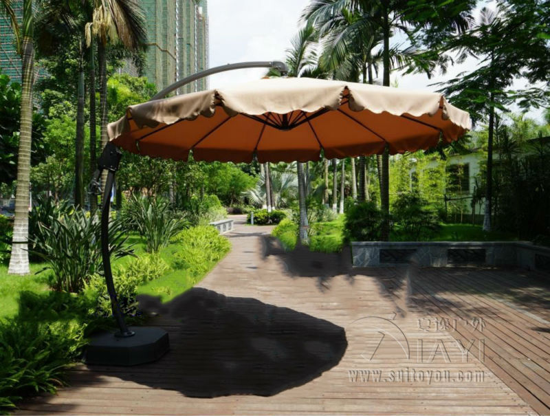 Dia 3 meter aluminum deluxe outdoor patio sun umbrella garden parasol sunshad