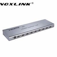 Voxlink 1080 p 4 k * 2 k 1x8 hdmi splitter 1 8 out 3d hdmi switcher splitter destek msk edid rs232 için hdcp1.4 ir uzatma HDTV