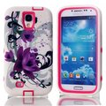 For Samsung Galaxy S4 Cases Lotus Heavy Duty Hybrid Rugged PC + Silicone Phone Case Cover for Samsung S4 I9500