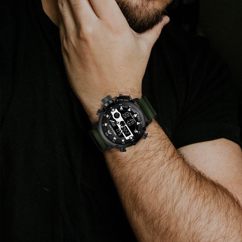 Relogio Masculino MEGALITH Sport Waterproof Watches Men Luminous Dual Display Alarm Top Brand Luxury Quartz Watch Wholesale 8051 5