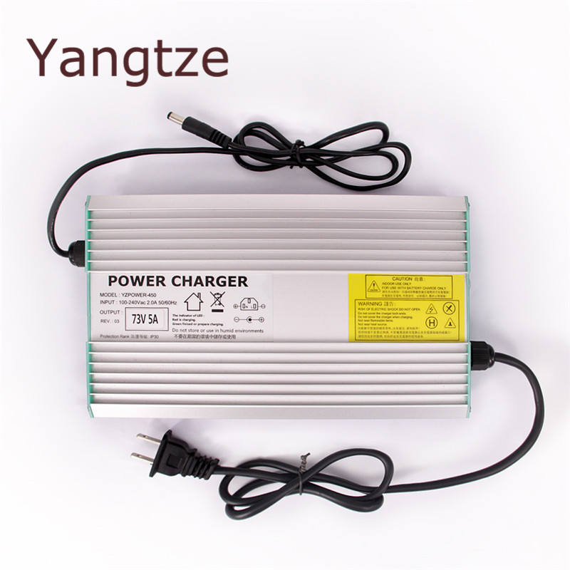 Yangtze AC-DC 87.6V 4.5A 4A 3.5A Lifepo4 lithium Battery Charger for 72V (76.8V) Power Polymer Scooter Ebike for TV Receivers 30a 3s polymer lithium battery cell charger protection board pcb 18650 li ion lithium battery charging module 12 8 16v