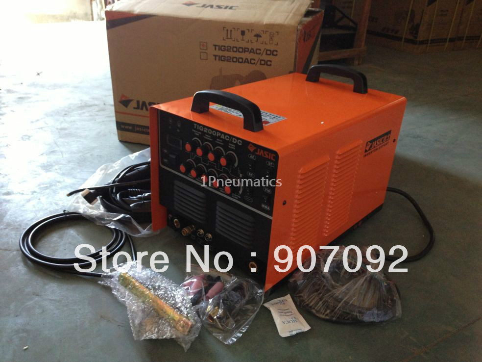 High Quality JASIC WSE-200P TIG200P AC/DC TIG/MMA Square Wave Pulse Inverter Welder Aluminium WP-26 Air Cooled Torch 220V JS013 light weight djk35 50 9mm quick gas connector silica gel soft wp 26 wp 26 tig 26 tig torch complete 4m 12feet tig 200p ac dc