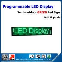 4 шт. зеленый P10 светодиодный дисплей модуль полуоткрытой moving знак светодиодный дисплей электронный экран 16 96 пикселей Бег текст СВЕТОДИОДН
