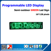 4pcs green p10 led display module semi outdoor led moving sign led display electronic screen 16 96 pixels running text led sign