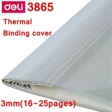 [ReadStar]10PCS/LOT Deli 3865 thermal binding cover A4 Glue binding cover 3mm (16-25 pages) thermal binding machine cover