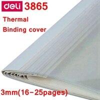 [Readstar] 10 pçs/lote deli 3865 cobertura de ligação térmica a4 cola encadernação capa 3mm (16 25 páginas) máquina de encadernação térmica cobrir|thermal binding machine|binding machine|thermal binding -